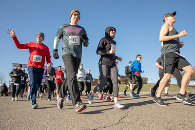 "Area residents gathered Sunday, April 29, 2018 for the ""Run Thru the Hills"" 5K and 10K race through the hills and streets of Lake in the Hills. The race has been held since 1999, and offers a challenging course through the rolling terrain around Wood Creek Lake. KKoontz- For Shaw Media"