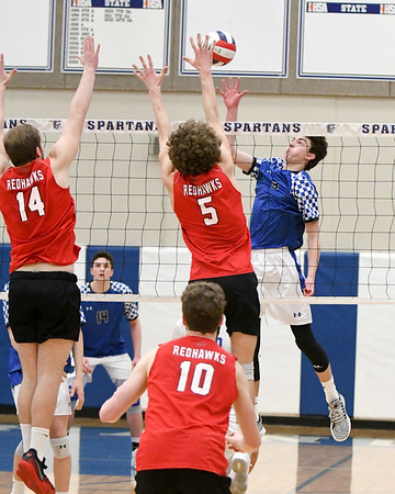 St. Francis boys volleyball vs. Naperville Central