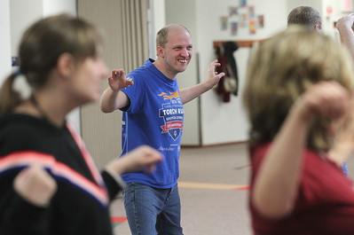 Candace H. Johnson-For Shaw Media Alex Dmytrenko, 34, of Gurnee (center) takes a Tai Chi class at Warren Special Recreation Association (WSRA)  in Gurnee. (3/13/19)