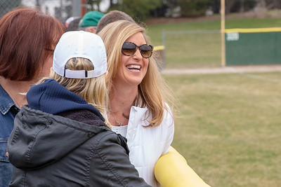 Chris Priester watches her son Quinn, a pitcher for Cary-Grove high school, pitch a game against Huntley Saturday, April 6, 2019 in Cary. KKoontz – For Shaw Media