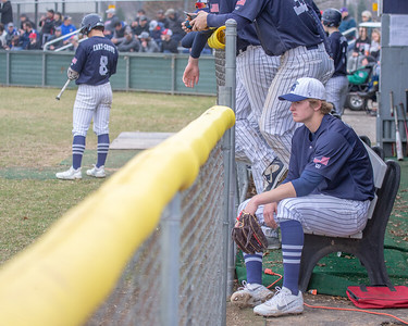 Cary-Grove's Quinn Priester collects his thoughts during a game against Huntley Saturday, April 6, 2019 in Cary. Cary would go on and take the win 4-3. KKoontz – For Shaw Media