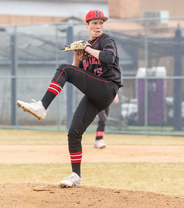 Huntley's Jimmy Fairley took the mound for the game against Cary-Grove Saturday, April 6, 2019 in Cary. Cary would go on and take the win 4-3. KKoontz – For Shaw Media
