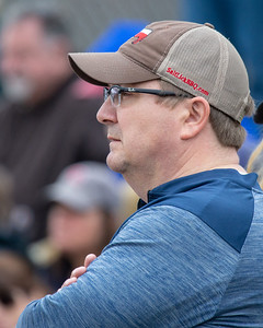Andy Priester watches his son Quinn, a pitcher for Cary-Grove high school, pitch a game against Huntley Saturday, April 6, 2019 in Cary. KKoontz – For Shaw Media