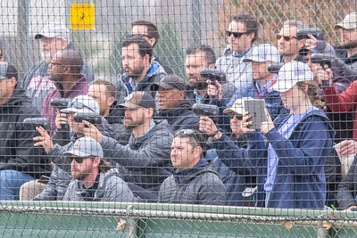 MLB scouts with radar guns filled the stands to watch Cary-Grove pitcher Quinn Priester Saturday, April 6, 2019 in Cary.  KKoontz – For Shaw Media