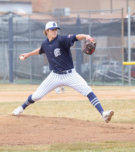 Cary-Grove pitcher Quinn Priester got the start against Huntley Saturday, April 6, 2019 in Cary. Priester finished with 6 2/3 IP, 7H, 3R, 2ER, 11K, 1BB, 2HBP and a no decision. KKoontz – For Shaw Media
