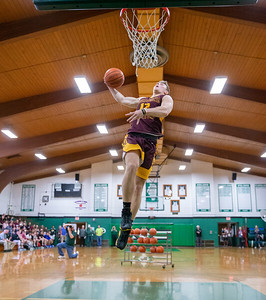 Richmond-Burton's Jeff Jankowski wins the dunk contest at the 2019 McHenry County Boys Basketball All-Star game held at the Alden-Hebron Tigard Gymnasium Sunday, April 7, 2019 in Hebron. KKoontz – For Shaw Media