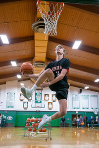 Crystal Lake Central's Evan Cassell competes in the slam dunk contest at the 2019 McHenry County Boys Basketball All-Star game held at the Alden-Hebron Tigard Gymnasium Sunday, April 7, 2019 in Hebron. KKoontz – For Shaw Media