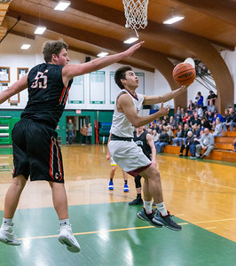 Prairie Ridge's Michael Patterson goes up for the shot at the 2019 McHenry County Boys Basketball All-Star game held at the Alden-Hebron Tigard Gymnasium Sunday, April 7, 2019 in Hebron. KKoontz – For Shaw Media