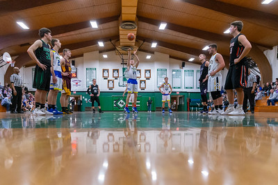 Johnsburg's Zach Toussaint shoots from the free-throw line at the 2019 McHenry County Boys Basketball All-Star game held at the Alden-Hebron Tigard Gymnasium Sunday, April 7, 2019 in Hebron. Toussaint is the 2019 Northwest Herald Boys Basketball player of the year and finished the game as high-scorer with 24 points.  KKoontz – For Shaw Media
