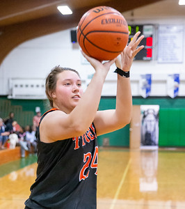 Crystal Lake Central's Maddie Haslow won the 3-point contest sinking nine in 45 seconds at the 2019 McHenry County All-Star game held at Alden-Hebron's Tigard Gymnasium Sunday, April 7, 2019 in Hebron. KKoontz – For Shaw Media