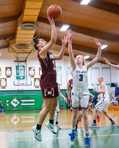 2019 Northwest Herald Girls Basketball Player of the Year Marissa Knobloch goes in for a lay-up at the 2019 McHenry County All-Star game held at Alden-Hebron's Tigard Gymnasium Sunday, April 7, 2019 in Hebron. KKoontz – For Shaw Media