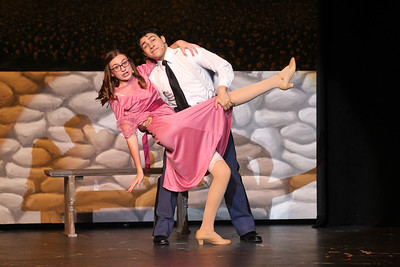 "Candace H. Johnson-For Shaw Media Rolf Gruber (Anthony Yerushalmi) and Liesl (Chloe Skinner) dance a waltz to ""Sixteen Going on Seventeen,"" during the dress rehearsal for The Sound of Music at Grant Community High School in Fox Lake. The musical will be held at Grant on Friday, April 12th at 7:00 pm., Saturday, April 13th, at 7:00 pm. and Sunday, April 14th at 2:00 pm. (4/8/19)"