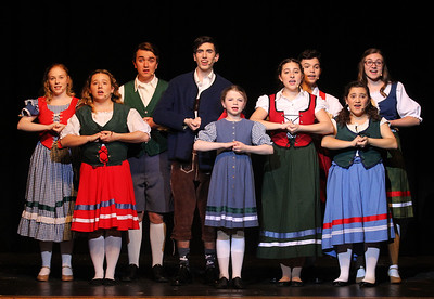Candace H. Johnson-For Shaw Media The cast works on one of their songs during the dress rehearsal for The Sound of Music at Grant Community High School in Fox Lake. The musical will be held at Grant on Friday, April 12th at 7:00 pm., Saturday, April 13th, at 7:00 pm. and Sunday, April 14th at 2:00 pm. (4/8/19)