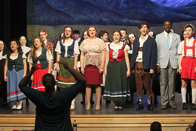 Candace H. Johnson-For Shaw Media Krista Koske, vocal music director, works with the cast on a song during the dress rehearsal for The Sound of Music at Grant Community High School in Fox Lake. The musical will be held at Grant on Friday, April 12th at 7:00 pm., Saturday, April 13th, at 7:00 pm. and Sunday, April 14th at 2:00 pm. (4/8/19)