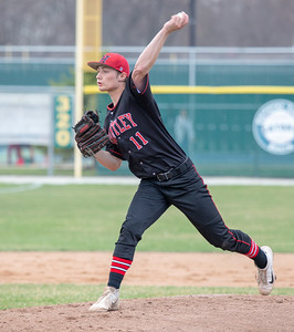 Huntley's Hunter Rumachik took the start against Crystal Lake South Wednesday, April 17, 2019 in Crystal Lake. Huntley scored two in the 7th inning to take the win 7-5. KKoontz – For Shaw Media