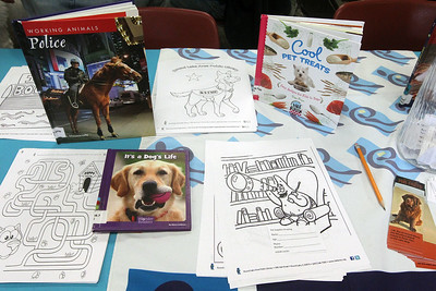 Candace H. Johnson-For Shaw Media Books on animals to check-out and coloring pages to color were available for visitors during the Pet Expo at the Round Lake Area Public Library. (4/13/19)