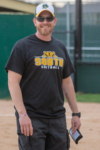 Crystal Lake South head softball coach was all smiles before the game against Crystal Lake Central Monday, April 22, 2019 at Crystal Lake South High School. South goes on to win their 18th of the year, 12-2 in five innings. KKoontz- For Shaw Media