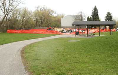 Candace H. Johnson-For Shaw Media The Grayslake Community Park District's Sunrise Park playground under construction in Grayslake. Elements of the playground will be ADA accessible. (4/22/19)