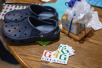 Shoes and soap are just a few of the items being supplied to those in need in Ghana. The group, Girls 4 Ghana met Sunday, April 28, 2019 in Algonquin to prepare the items for delivery.  KKoontz – For Shaw Media