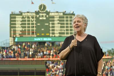 Belda sings at Wrigley Field