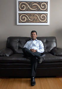 Bolingbrook resident Mir Ali, chairman-elect of the Bolingbrook Area Chamber of Commerce, poses for a portrait inside his home on Monday, Aug. 19, 2013. Ali is the founder of the Bolingbrook Premier League, and also a founding member of the village's annual Pakistani Independence Day celebration. Matthew Piechalak –mpiechalak@shawmedia.com