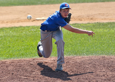 Josh Peckler - Jpeckler@shawmedia.com Mchenry Hurricane pitcher Mike Borst throws in a pitch during the 1st inning of a MCYSA Summer International Championship game against the Puerto Rico Cardenals at Petersen Park in Mchenry Friday, August 3, 2012.
