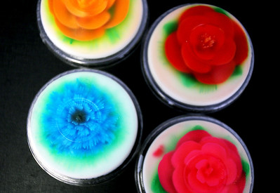 Sarah Nader - snader@shawmedia.com Jell-O flower cups are displayed at El Molino Azul Bakery in Crystal Lake on Tuesday, August 7, 2012. The mexican bakery has been open for the past year and mainly sells to supermarkets in the area but also sells sweets at their retail shop.