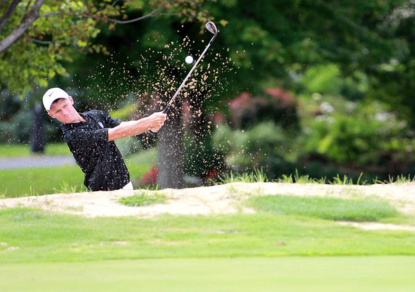 Kaneland golfer Luke Kreiter practices at Mill Creek Golf Course in Geneva Tuesday afternoon.