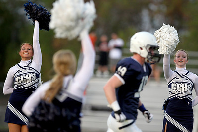 Sarah Nader - snader@shawmedia.com The Cary-Grove Varsity teams in announced before Friday's game against St. Charles East in Cary on August 24, 2012. Cary-Grove won, 49-33.