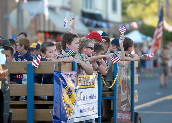 The Elburn Days Parade on Main Street in downtown Elburn Friday evening. The Elburn Days festival runs through Sunday. (Sandy Bressner photo)