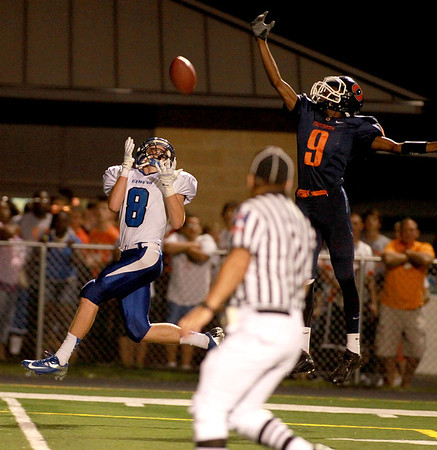 Geneva vs. Oswego football in their season-opener at Geneva.<br /> (Sandy Bressner photo)