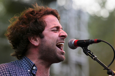 Sarah Nader - snader@shawmedia.com Lead singer Taylor Goldsmith performs with Dawes during day one of Lollapalooza held at Grant Park in Chicago on Friday, August 3, 2012.