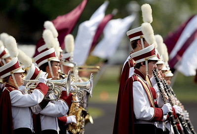 Sarah Nader - snader@shawmedia.com The Marengo marching band performs before Saturday's football game against Mendota in Marengo on August 25, 2012. Marengo won, 21-7.