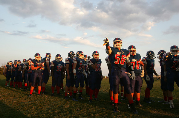 H. Rick Bamman - hbamman@shawmedia.com<br /> The Marmion Cadets wait to enter the field to play in the season opener against Jacobs.