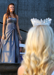 Sarah Nader - snader@shawmedia.com Rebecca Clarke, 17, of Marengo competes in the 64th Miss McHenry County Pageant at the McHenry County Fairgrounds on Wednesday, August 1, 2012.