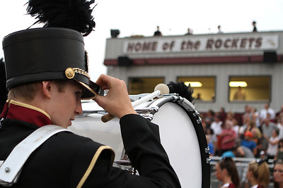 Mike Greene - mgreene@shawmedia.com A Richmond-Burton band member adjusts his hat before the start of a non-conference game against Winnebago Friday, August 31, 2012 in Richmond. Winnebago defeated Richmond-Burton 44-28.