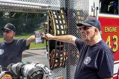 Jim Dallke - jdallke@shawmedia.com Al Robel trains on the new fire engine at the McHenry Township Fire Department station 2 Friday, August 2, 2013. Robel retired on Friday after 36 years at the department.