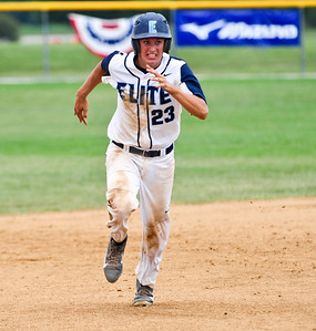 Josh Peckler - For Northwest Herald Illinois Elite's Nick Price runs towards third base during the fourth inning of the Championship game for the MCYSA 15U International Championships against the Mac N Seitz Royals at Lippold Park in Crystal Lake Sunday, August 4, 2013.