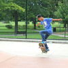 Joshua Farwell, 15, of St. Charles, practices his skateboarding moves at the skate park at Mt. St. Mary Park in St. Charles on Wednesday. The park features a half-pipe, rails, ramps, and curbs for skaters to hone their skills on.