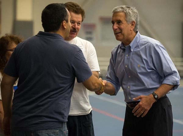 Kane County Board Chairman Chris Lauzen greets contributors at during the 19th Annual Porky Picnic<br /> at The Vaughan Athletic Center in Aurora, IL on Saturday, August 10, 2013 (Sean King for Shaw Media)