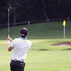 Jeff Krage – For Shaw Media<br /> Chris Thomas watches his shot fly toward the 5th green during Sunday's championship flight of the St. Charles Men's Golf Tournament at Pottawatomie Golf Course. <br /> St. Charles 8/11/13
