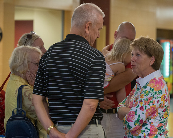 Sarah Lauzen wife of Kane County Board Chairman Chris Lauzen greets contributors at the 19th annual Porky Picnic at The Vaughan Athletic Center in Aurora, IL on Saturday, August 10, 2013 (Sean King for Shaw Media)