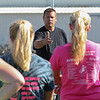 Kaneland coach Tim Larsen talks to his girls tennis team during practice at Kaneland High School in Kaneville, IL on Tuesday, August 27, 2013 (Sean King for Shaw Media)