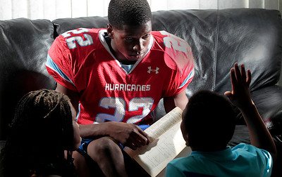"Kyle Grillot - kgrillot@shawmedia.com   If Marian Central senior running back Ephraim Lee didn't play football he would like to help other students through tutoring. He currently helps his younger brother Brian, 9, and sister Janelle, 11, with their math and english school work and says he would like to teach others. ""I'm pretty good with kids, and I could help them out with subjects I'm good at,"" Lee said "" I'm thinking about being  a teacher, and getting experience helping kids with problems helps me with my own school work."""