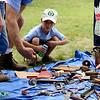 George Hutches, 6, from Batavia, looks at an antique horse bit at the Antique Tool Show and Sale at Garfield Farm Museum in Campton Hills Sunday, Aug. 3.