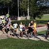 Jeff Krage – For Shaw Media<br /> 5K runners navigate the stairs in Pottawatomie Park during Saturday's Bob Leonard River Run & Walk.<br /> St. Charles 8/9/14