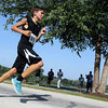 Jeff Krage – For Shaw Media<br /> Kyle Bell, 13, of Joliet competes in the 5K race during Saturday's Bob Leonard River Run & Walk at Pottawatomie Park in St. Charles.<br /> St. Charles 8/9/14