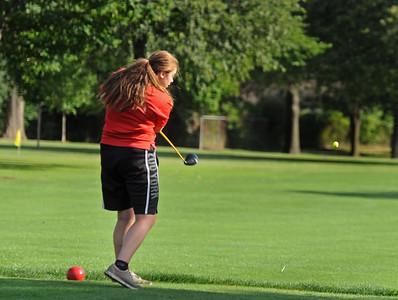 Glenbard South girls golf practice