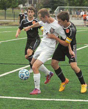 Wheaton Warrenville South at Wheaton Academy boys soccer