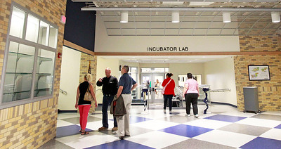 Candace H. Johnson The newly renovated entrance hall at Round Lake High School.
